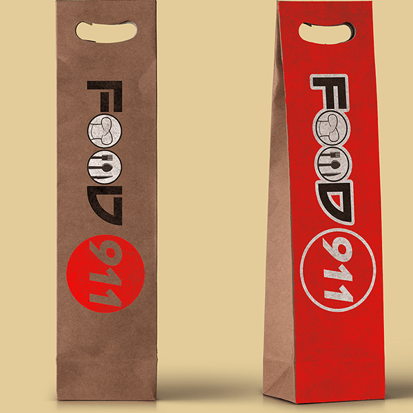 Food 911 Wine Paper bag